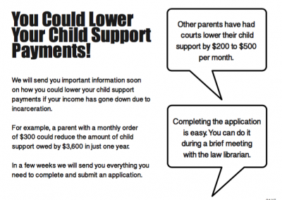 Taking the First Step: Using Behavioral Economics to Help Incarcerated Parents Apply for Child Support Order Modifications