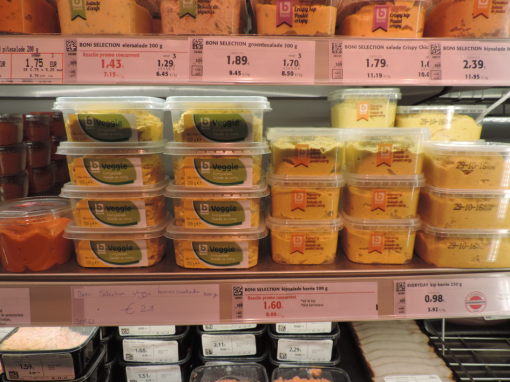 Similar taste, different impact: nudging shoppers towards vegetarian alternatives in the supermarket.