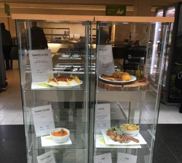 Sustainable consumption at a company canteen