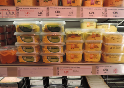 Similar taste, different impact: nudging shoppers towards vegetarian alternatives in the supermarket.